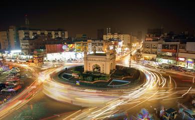Beautiful View Of Bahadurabad Chorangi, Karachi, Pakistan Fototapete