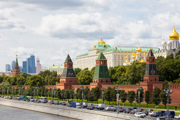 cityscape with Grand Kremlin Palace, Moscow, Russia