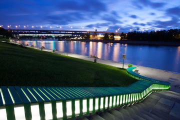 evening landscape with Moscow-river