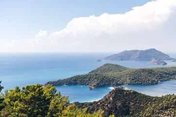 Oludeniz lagoon view from mountains, Turkey