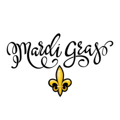 Happy Mardi Gras greeting card