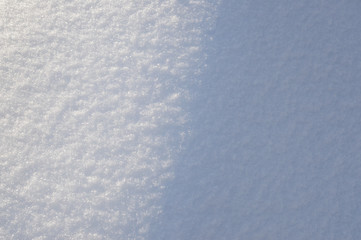 texture of snow close up