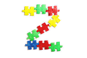 frames and letters for the text of colorful puzzles , world autism day, the logo of autism. alphabet.