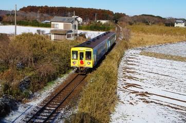 冬の鹿島臨海鉄道大洗鹿島線