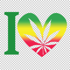 Marijuana Therapy, Medical and Health care Rasta vector symbol illustration isolated