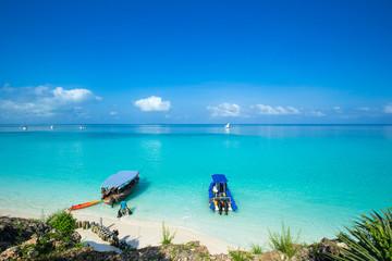 Foto op Canvas Zanzibar sea in Zanzibar beach