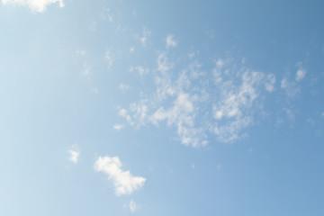big clouds on a blue sky