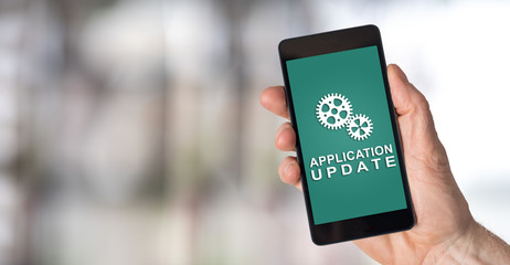 Application update concept on a smartphone