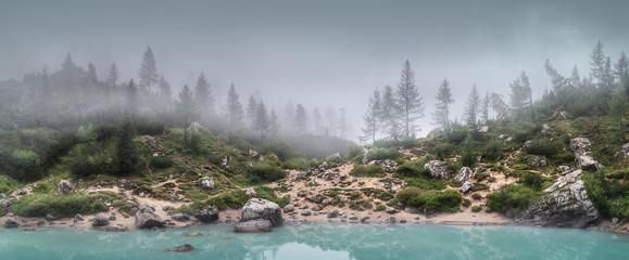 Lago di Sorapis in National Park Dolomites