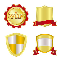 Vector illustration of emblem and badge icon. Collection of emblem and sticker vector icon for stock.