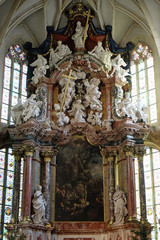 Altar in Graz Cathedral dedicated to Saint Giles in Graz, Styria, Austria