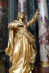 Virgin Mary, altar of the Holy Cross, Barmherzigenkirche church in Graz, Styria, Austria