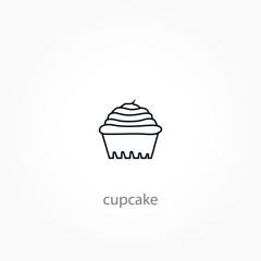 cupcake icon. Confectionery line icon