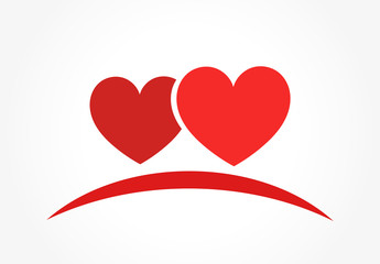 Two hearts logo or icon.
