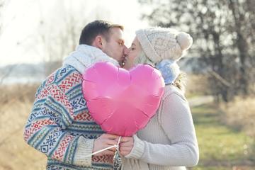 verliebtes glückliches Paar