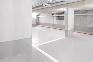 underground car parking deck - empty garage with copy space - Fototapete
