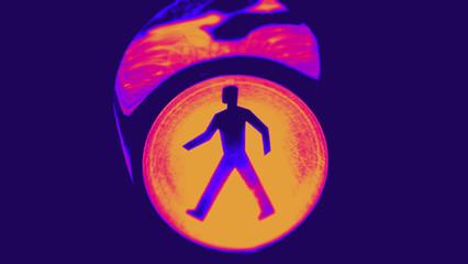 Ampelmännchen Ampelsignal Duotone Effect