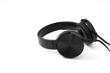 headphones earphones realistic black headphones