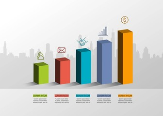 Presentation creative concept . Volume 3D infographic. With 3 options vector illustration EPS10.