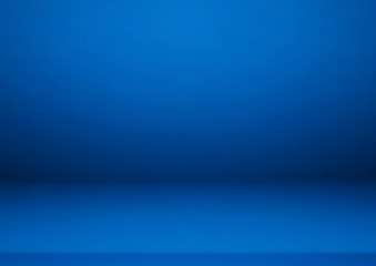 Wall Mural - Empty blue color product showcase. Used as background for display your product