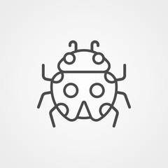 Ladybug vector icon sign symbol