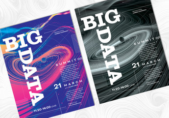 Event Poster Layout with Abstract Galaxy Theme
