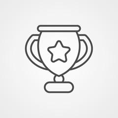Trophy vector icon sign symbol