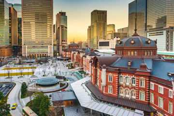 Photo sur Aluminium Tokyo Tokyo station building, railway station at Marunouchi district, Japan
