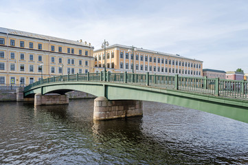 English Bridge  across Fontanka River  in Saint Petersburg, Russia
