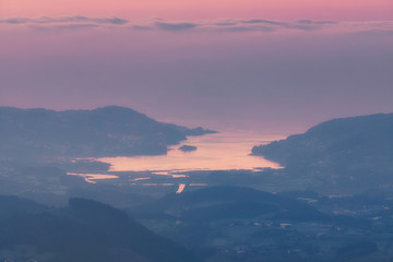 Urdaibai in Basque Country at the evening