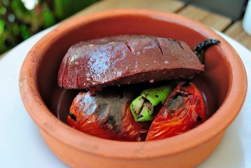 Ichli (stuffed) kofte from Turkish cuisine (aka Kibbeh in