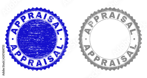 Grunge APPRAISAL stamp seals isolated on a white background