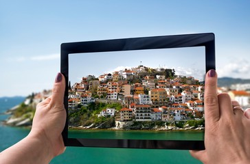 Photography with tablet
