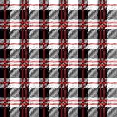 Red Buffalo Plaid Seamless Pattern - Classic buffalo plaid pattern design
