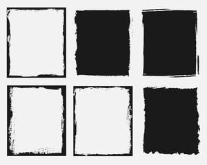 set of grunge frames