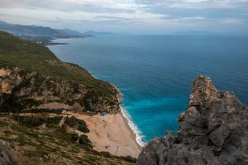 Gjipe Beach, Albania Riviera, beach coastline