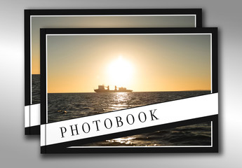 Photobook Layout with Photo Placeholders