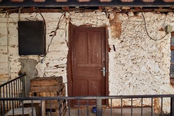 Old damaged doors grunge windows texture