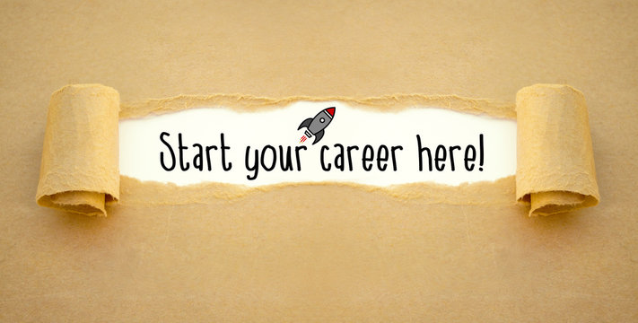 Paper work with rocket and start your career here