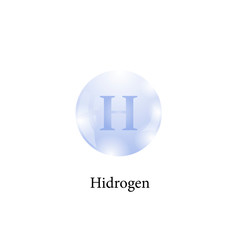 Molecule of Hidrogen Isolated on White Background. Chemical Element of the Periodic Table.