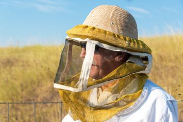 Beekeeper Closeup View