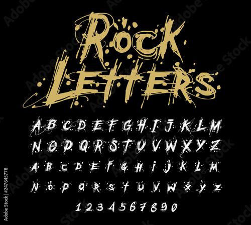 Hand drawn dry brush font  Modern brush lettering  Grunge