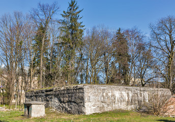 German Nazi bomb shelter in the Rovno, Ukraine.