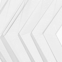 Geometrical background. Thin gray net draped in the form of angles. Striped pattern. Vector abstract pleated network. Technology ripple subtle curves. Monochrome line art design, textile, net, mesh