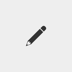 Pencil vector icon for drawing and artists
