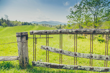 North Carolina Green Field and Fence