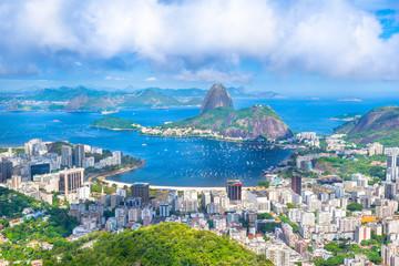 Beautiful cityscape of Rio de Janeiro city with Sugarloaf Mountain and Guanabara Bay - Rio de Janeiro, Brazil Fototapete