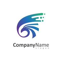 swoosh eagle logo template