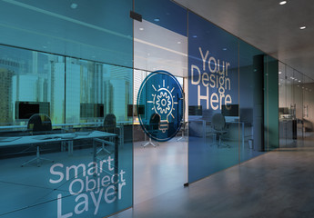Office Glass Wall Mockup
