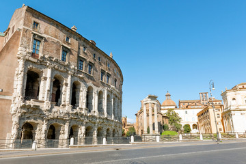 Theatre of Marcellus (Teatro di Marcello), ancient Roman theatre, now a place for summer concerts in Rome, Italy